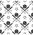 Sport seamless pattern baseball vector image