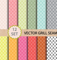 12 set Grill Seamless Pattern vector image