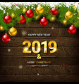 2019 background with christmas vector image