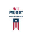 911 patriot day banner usa patriot day card vector image vector image