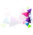 abstract colorful 3d triangle and minimal modern vector image vector image