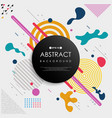abstract of colorful geometric memphis pattern vector image vector image