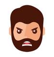 angry young man avatar character vector image