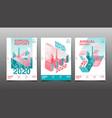 annual report 2020 20212022 polygon geometric vector image vector image