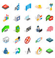 atm icons set isometric style vector image vector image
