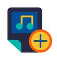 audio files music exchange glyph icon vector image vector image