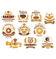 Bakery shop emblem or sign board designs vector image vector image