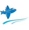 blue aeroplane vector image vector image