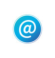 blue e-mail internet icon button isolated on vector image vector image