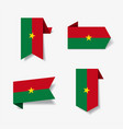 burkina faso flag stickers and labels vector image vector image