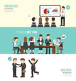 Business design conference concept people set vector image vector image