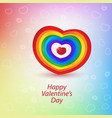 cards happy valentine day vector image