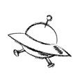cartoon ufo ship space transport icon vector image vector image