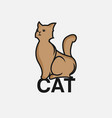 cat logo modern cat logo template isolated on vector image vector image