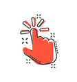 click mouse icon in comic style pointer cartoon vector image