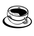 coffee sketch hand drawn isolated vector image