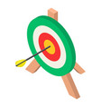 colorful archery target icon isometric style vector image