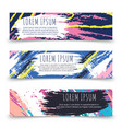 colorful grunge horizontal banner templates vector image