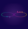 colorful infinity cyclical vector image