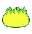 comic cartoon green halloween fire border vector image vector image