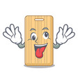 crazy wooden cutting board mascot cartoon vector image vector image