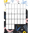 creative monthly planner template with colorful vector image vector image