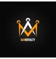 crown royal concept design background vector image vector image