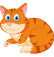 cute cat relaxing vector image vector image