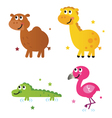 cute safari africa animals vector image