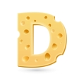 D cheese letter Symbol isolated on white vector image