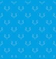 deer antler pattern seamless blue vector image