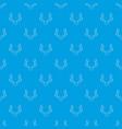 deer antler pattern seamless blue vector image vector image