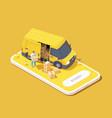 delivery service app vector image vector image