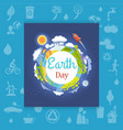 earth day poster with different seasons vector image vector image