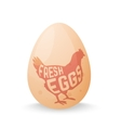 Egg with concept chicken silhouette inside on vector image vector image