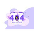 error 404 unavailable web page file not found vector image vector image