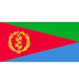 flag eritrea in correct proportions and colors vector image vector image