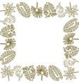 flower leaf frame empty template vector image