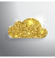 Golden glitter shining cloud on a vector image vector image