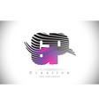 gp g p zebra texture letter logo design vector image vector image