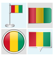 Guinea flag - sticker button label flagstaff vector image vector image