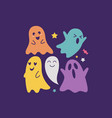 halloween ghost characters vector image