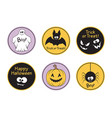 halloween labels set vector image vector image