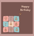happy birthday greeting card e-card for an vector image