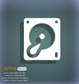 Hard disk and database icon symbol on the vector image vector image