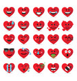 heart emoticon emoji vector image vector image