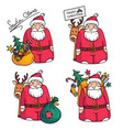 holiday with santa claus character vector image vector image