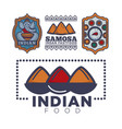 indian food cafe or restaurant and product icon vector image