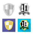 isolated object of emblem and badge icon vector image