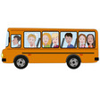 kids riding a school bus vector image vector image
